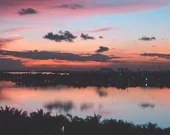 Ocean Sunset Warm Tone