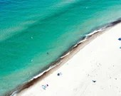 Aerial View of Lake Michigan Beach Shoreline