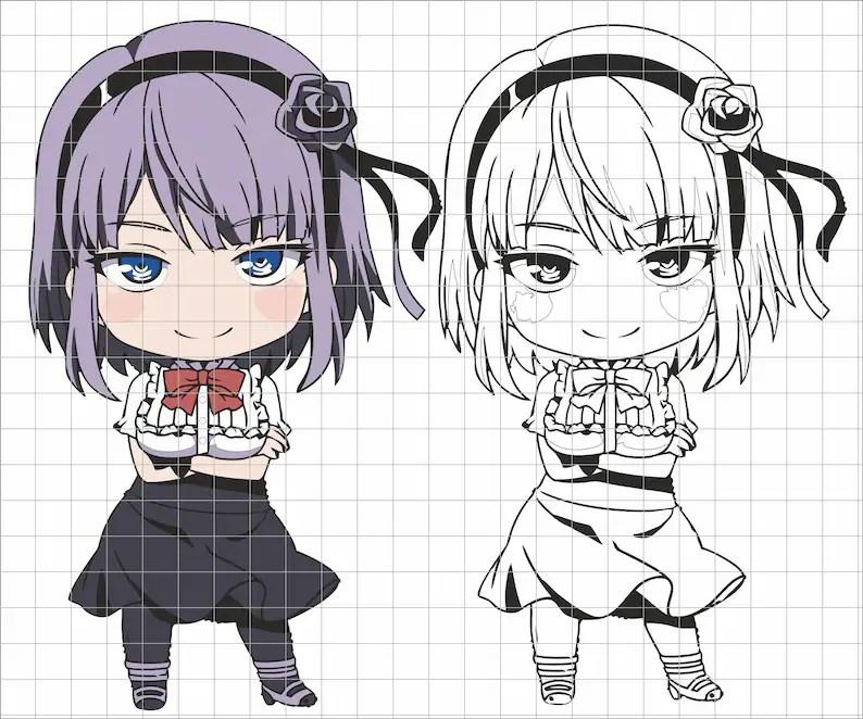 Download Anime SVG design Cricut file layered Anime vector image ...