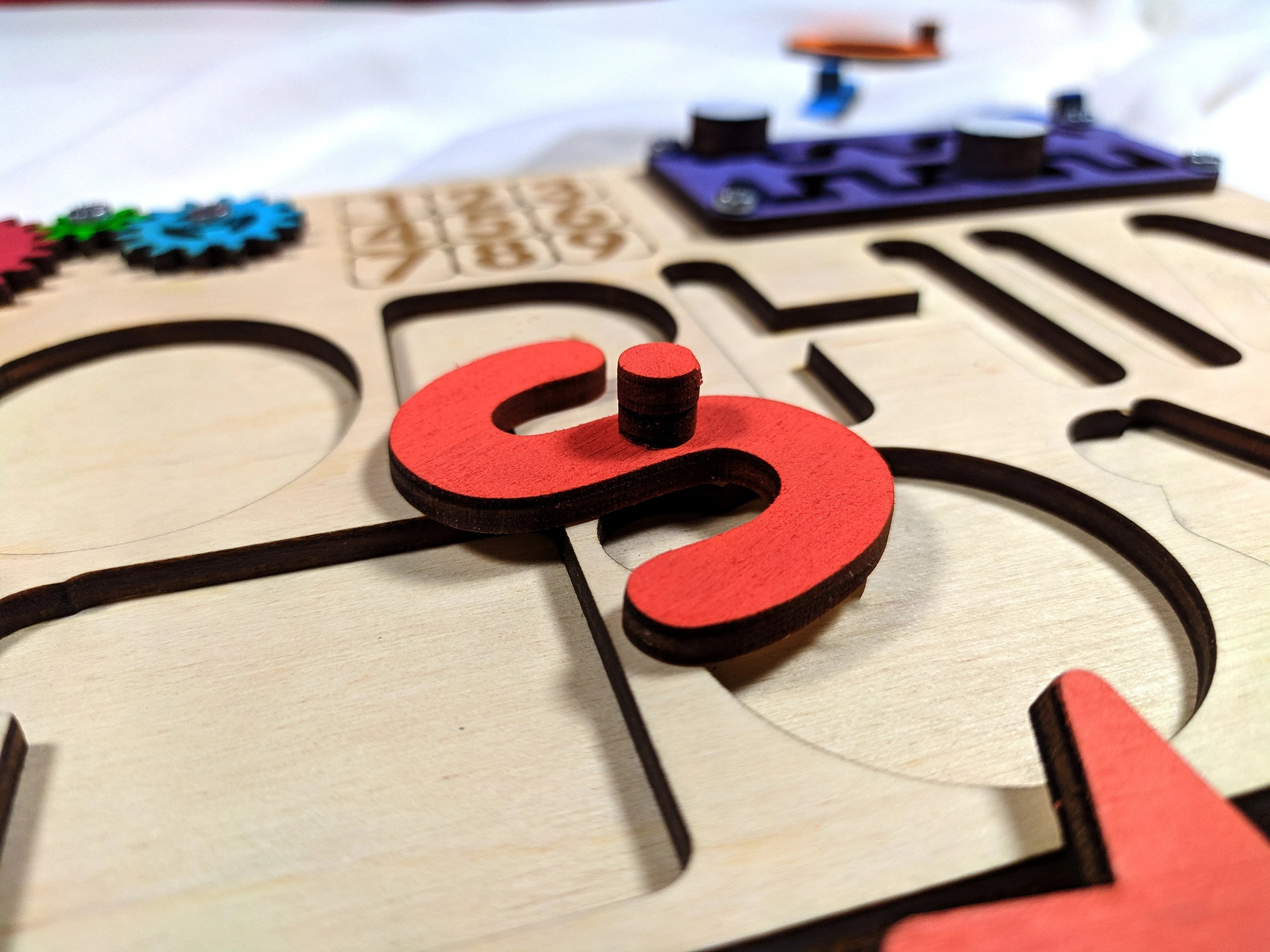 Personalized name puzzle with pegs Busy puzzle Wooden toys image 6