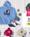 Bundle 40 Gildan Hooded Sweatshirt Brand Black Hoodie Mockup Etsy