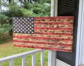 CNC Made Wooden American Flag