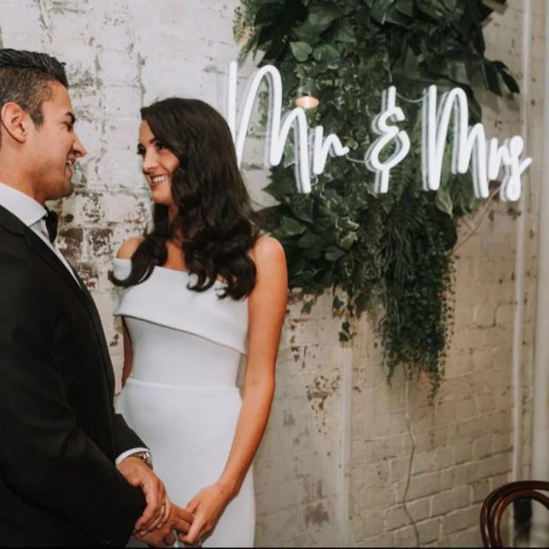 Neon sign als uniek idee voor je bruiloft