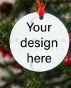 Benelux Sublimation Ornament Blank Mockup Template Add Your Etsy