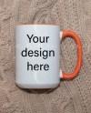 Fall Mug Mockup Orange Handle Mug Flat Lay Mug Farmhouse 300 Etsy