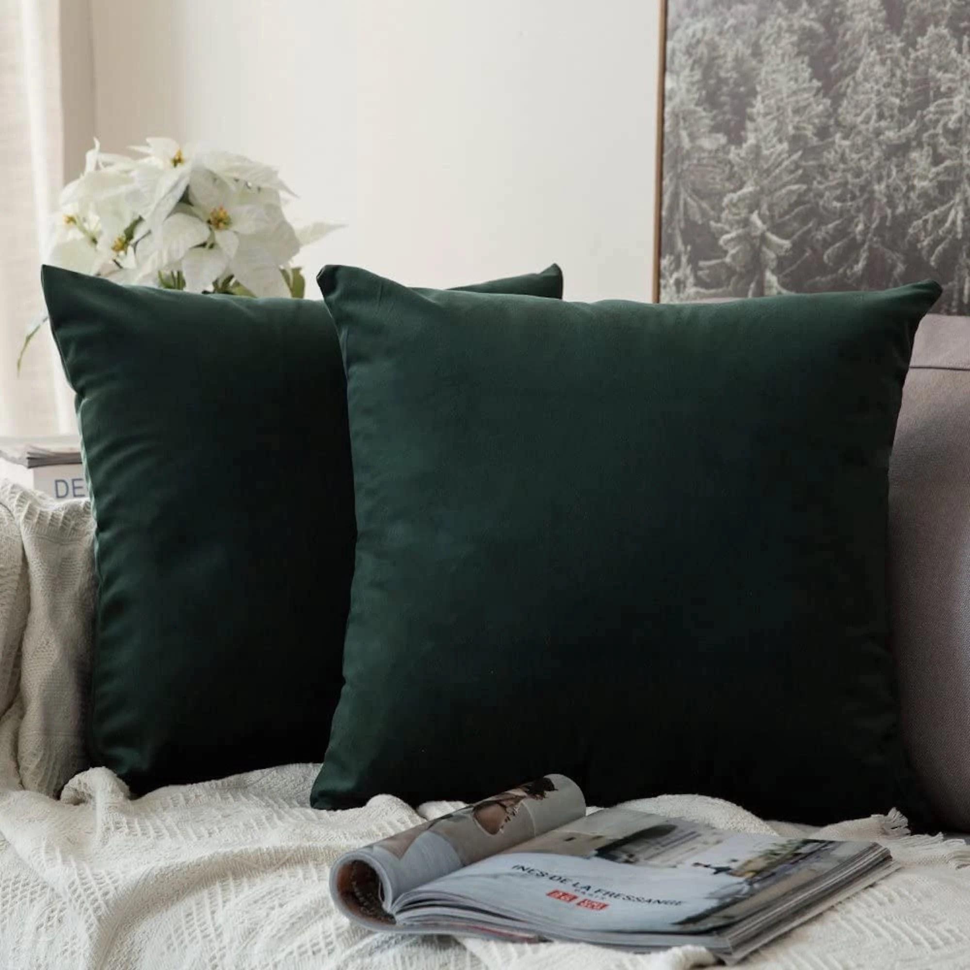 green velvet cushion etsy