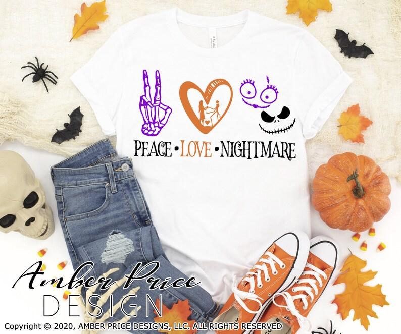 Download Peace love Nightmare SVG Jack skellington svg jack sally ...