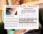 Weekly Wellness Goal Sheet, includes Spiritual, Emotional, Intellectual, Social and Physical Wellness