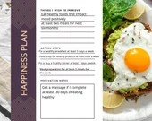 Happiness Worksheets, Worksheet to improve your mental health.