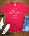 Gildan Softstyle Cardinal Mock Up T Shirt 64000 Mock Up Wood Etsy
