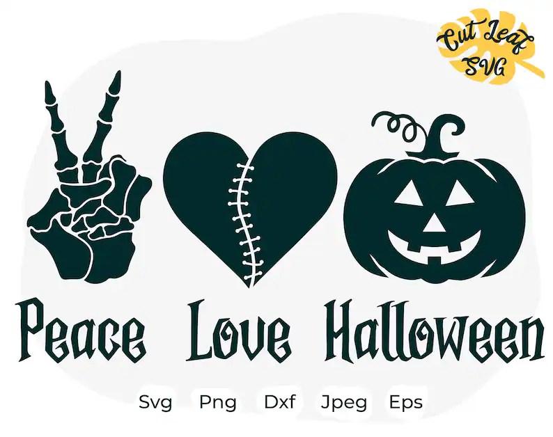Download Halloween svg Pumpkin svg Horror svg peace love halloween ...