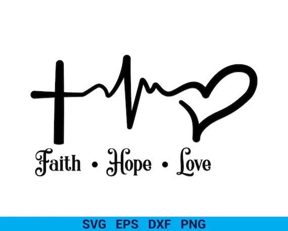 Download Faith Hope Love Heart SVG Christmas Cut files Faith svg | Etsy