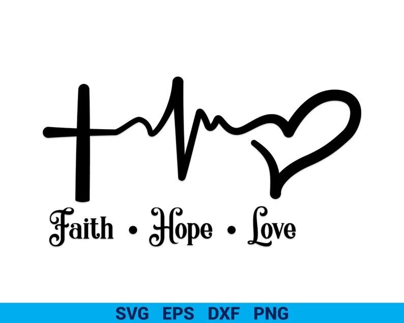 Download Faith Hope Love Heart SVG Christmas Cut files Faith svg   Etsy