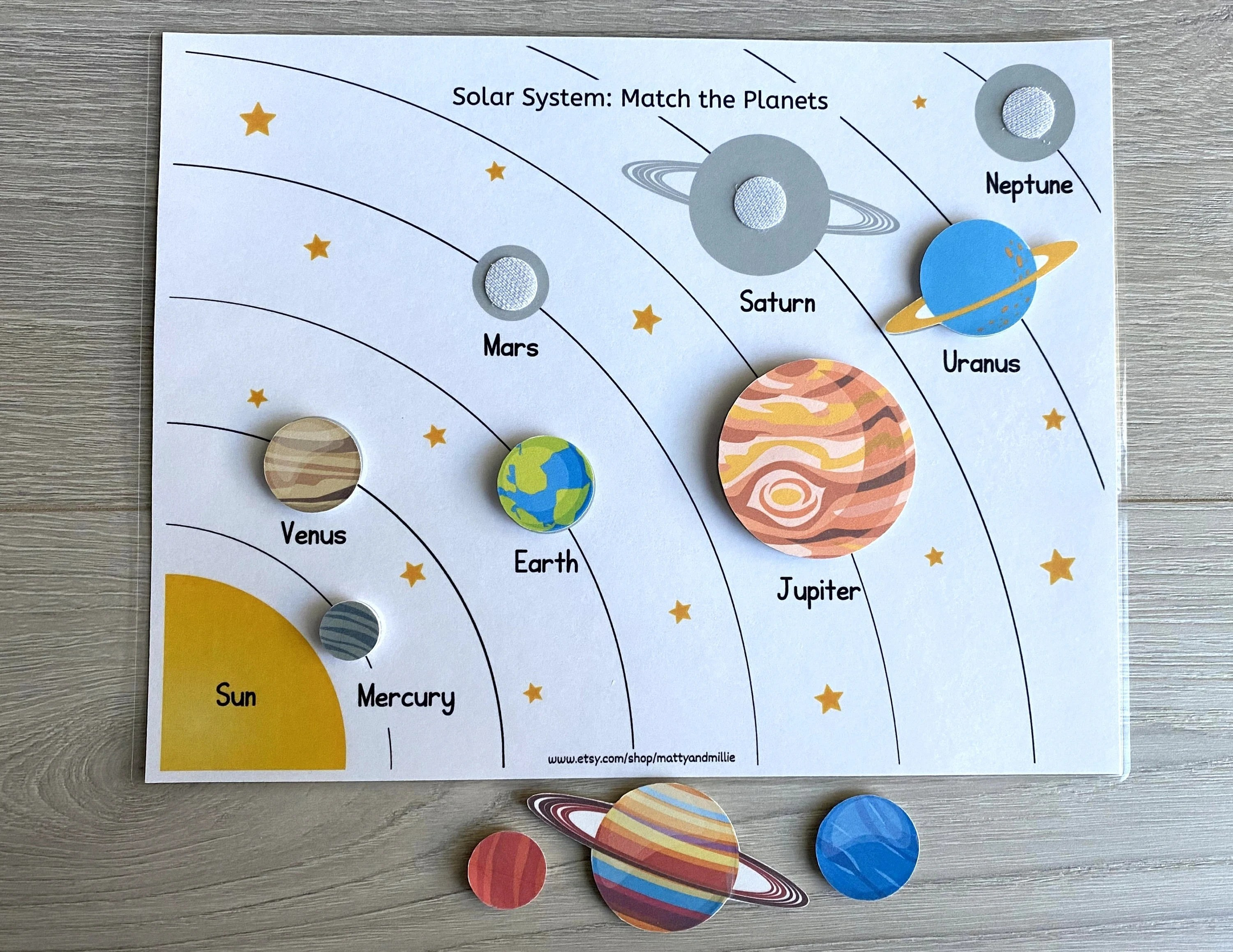 Solar System Worksheet Busy Book Pages Preschool Busy Book