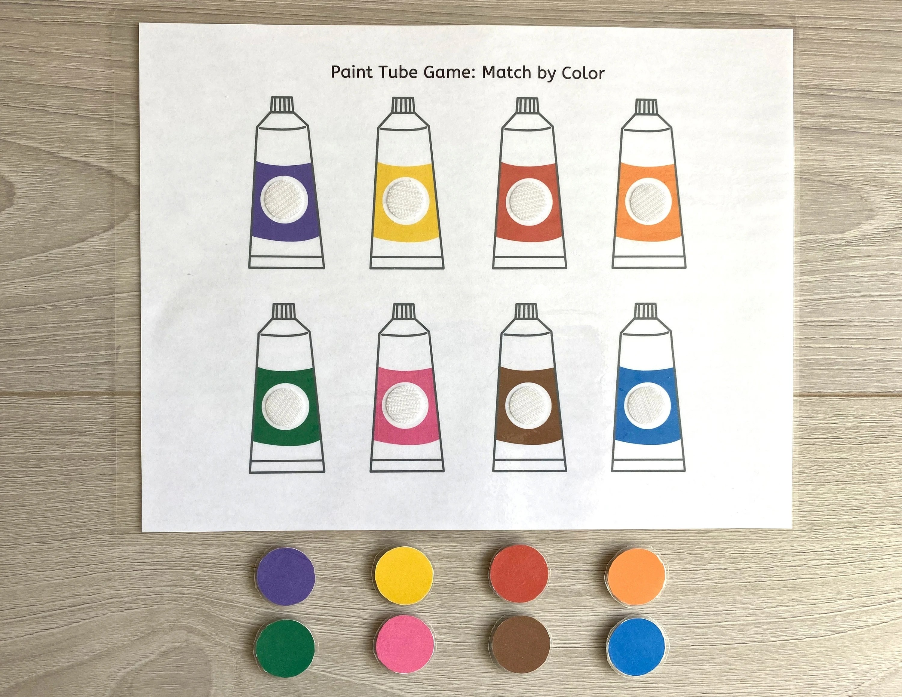Match By Color Worksheet Busy Book Pages Preschool Busy