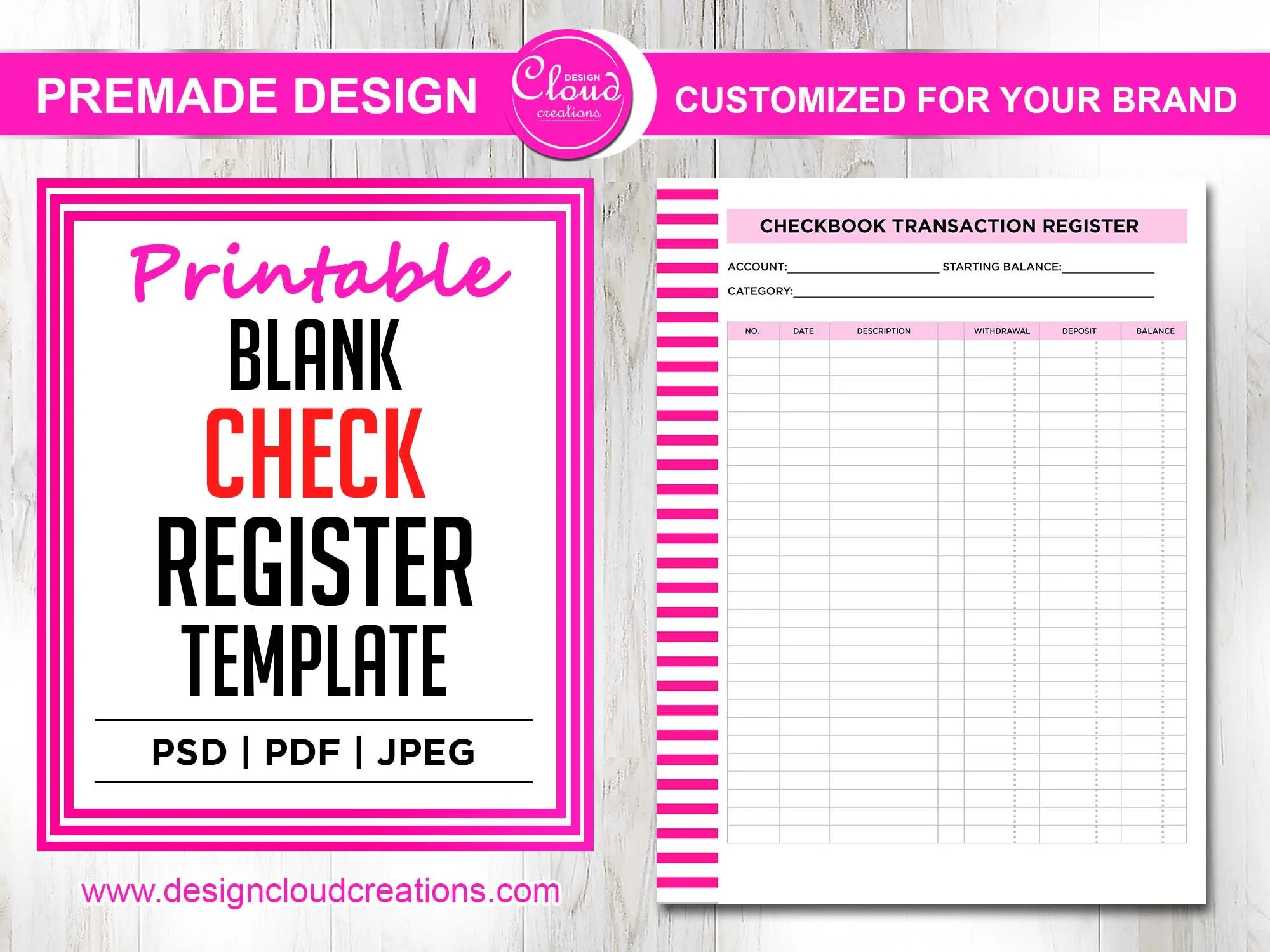 20/02/2021· check register (simple) track your current balance with this check register template. Printable Blank Check Register Template Printable Pdf File Etsy