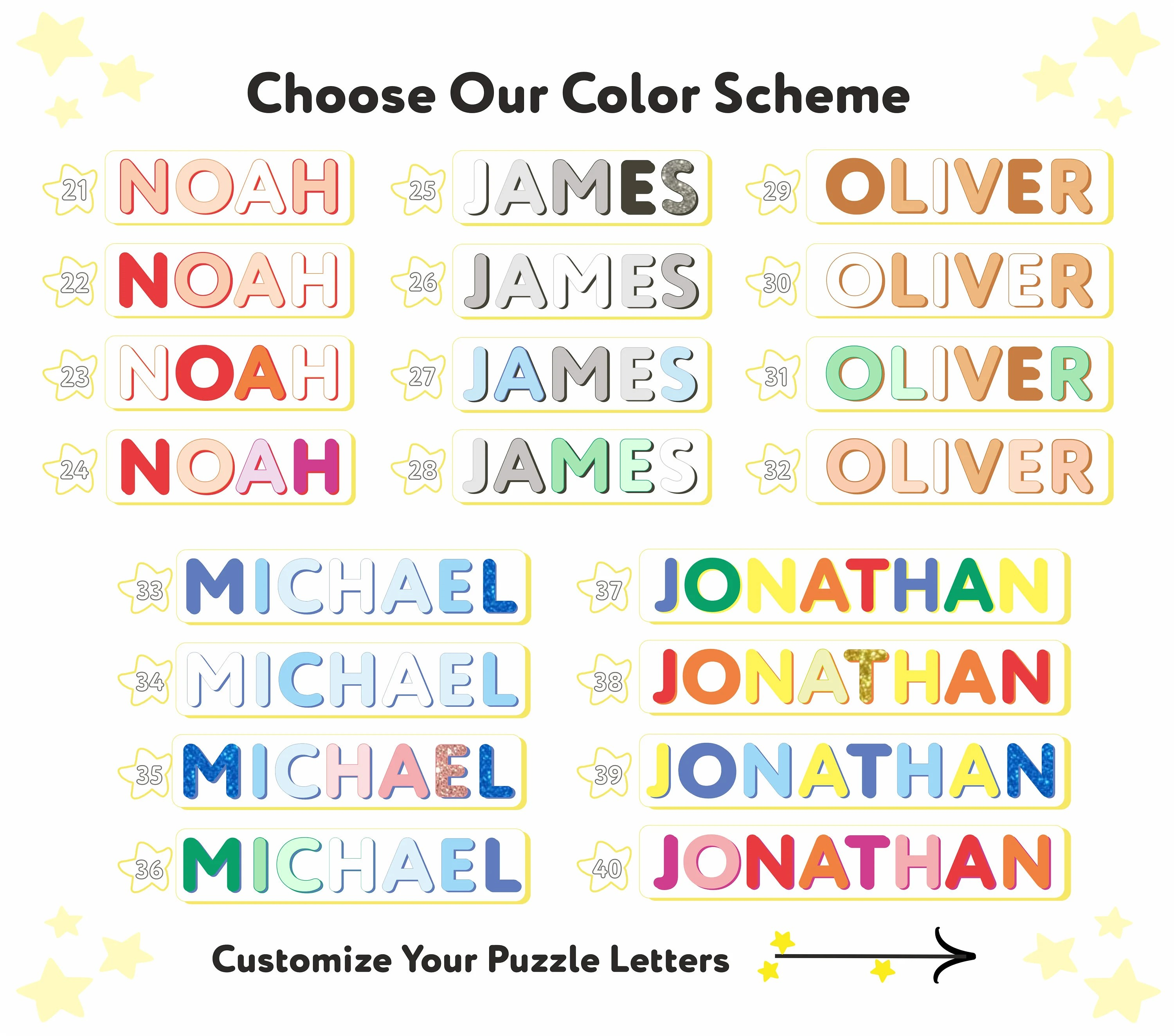 LIAM Personalized Wooden Name Puzzle Handmade Customized image 5