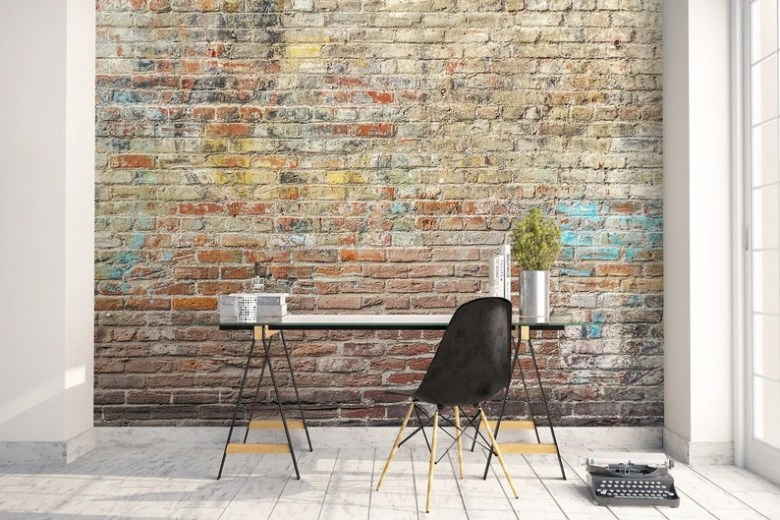Peel and Stick Faux Brick Grunge Wall by Wallartica