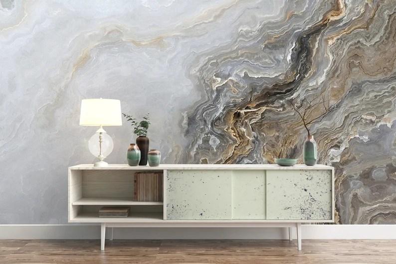 Art Wallpaper Peel and Stick Self Adhesive Wave Wall Mural image 0