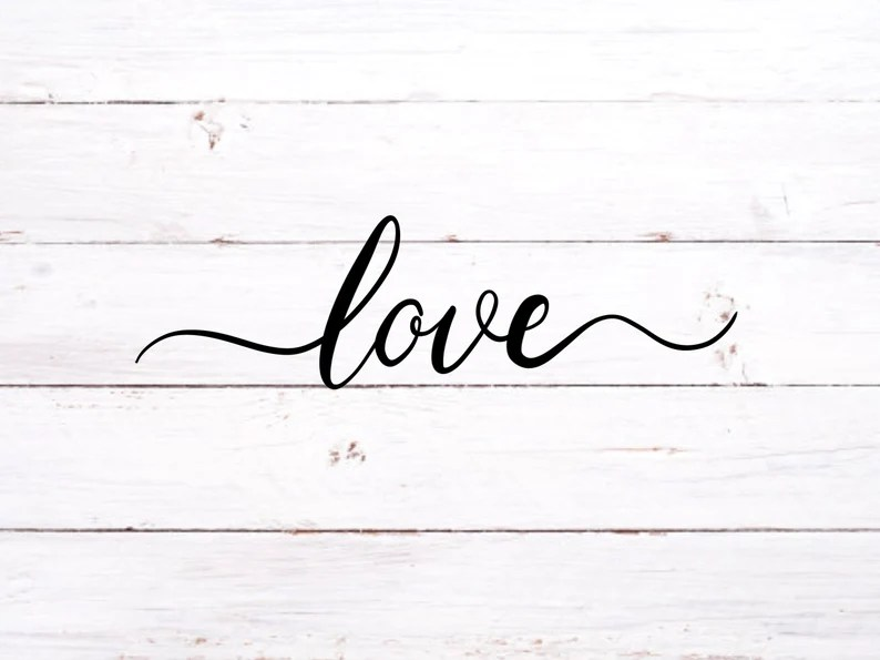 Download Love cursive SVG fro Cricut downloadable cute 4 files for ...