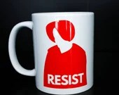 Cosy Book Cult Handmaid's Tale Resist mug Margaret Atwood feminist book literary bookworm gift feminist protest
