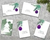 5 Weihnachtskarten Set, Postkarten Weihnachten, Klappkarten, Karte Foto, Foto Weihnachten, Klappkarte Weihnachten Set, Weihnachtsmotiv
