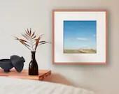 Landschaftsfotografie, beruhigende Bilder, Fine Art Print, Bild Wiese, quadratisches Bild, Landschaft Bild Schlafzimmer, Fotografie Natur