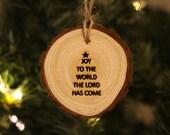 washington state, harstine island, christmas wood round pine custom laser engraved ornament