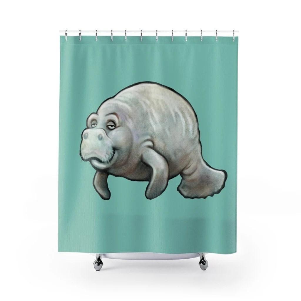 manatee curtain etsy