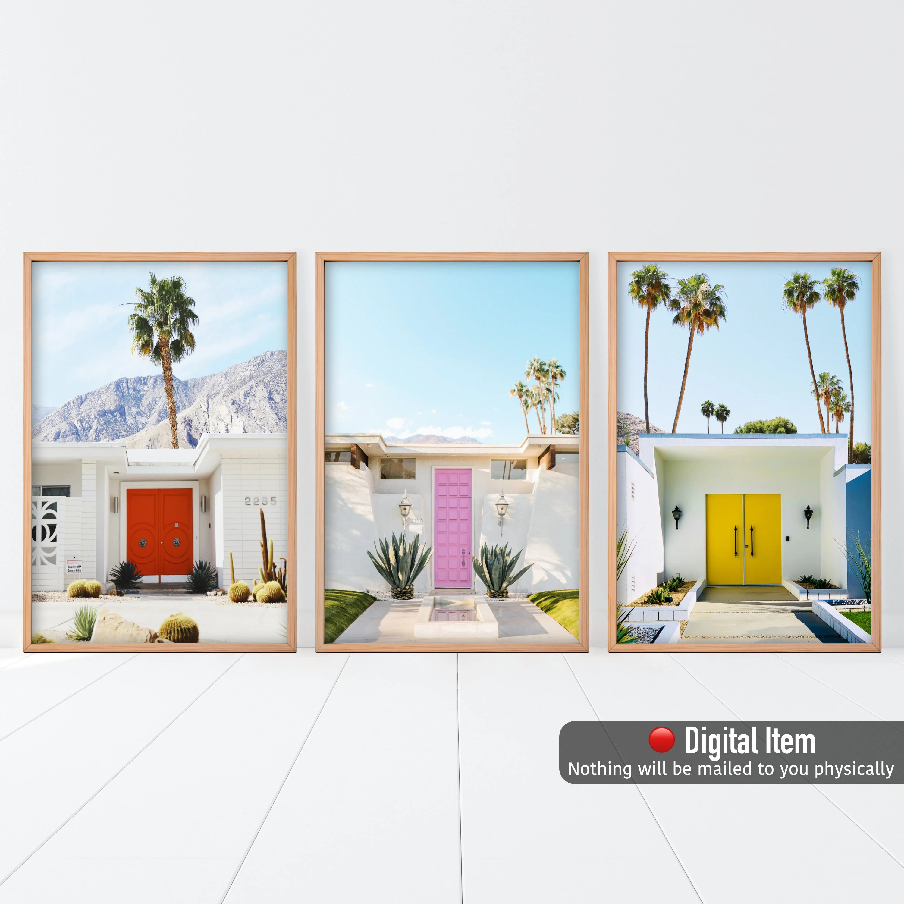 palm springs poster etsy