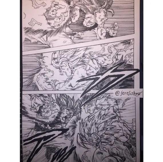 Drawing Board Manga Dragon Ball Z 281 X 420 Mm Black And White Etsy