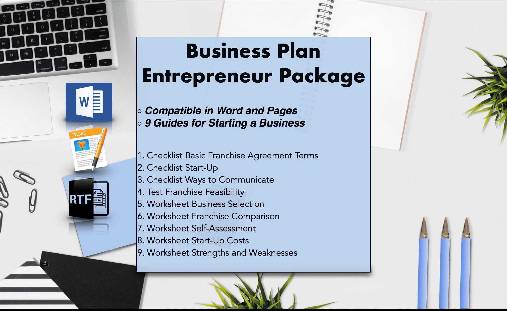 Digital Business Plan Template Printable Entrepreneur