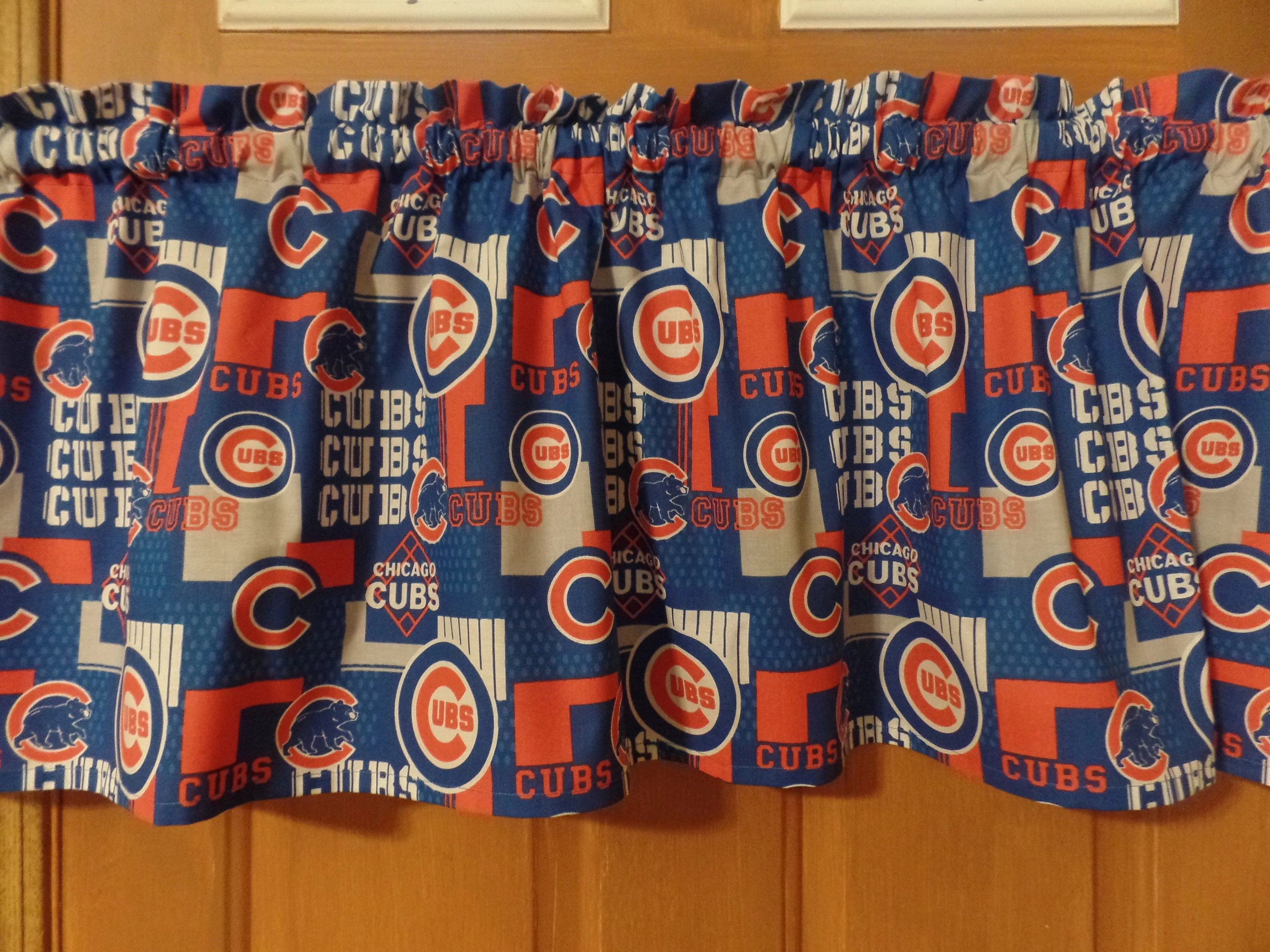 cubs curtains etsy
