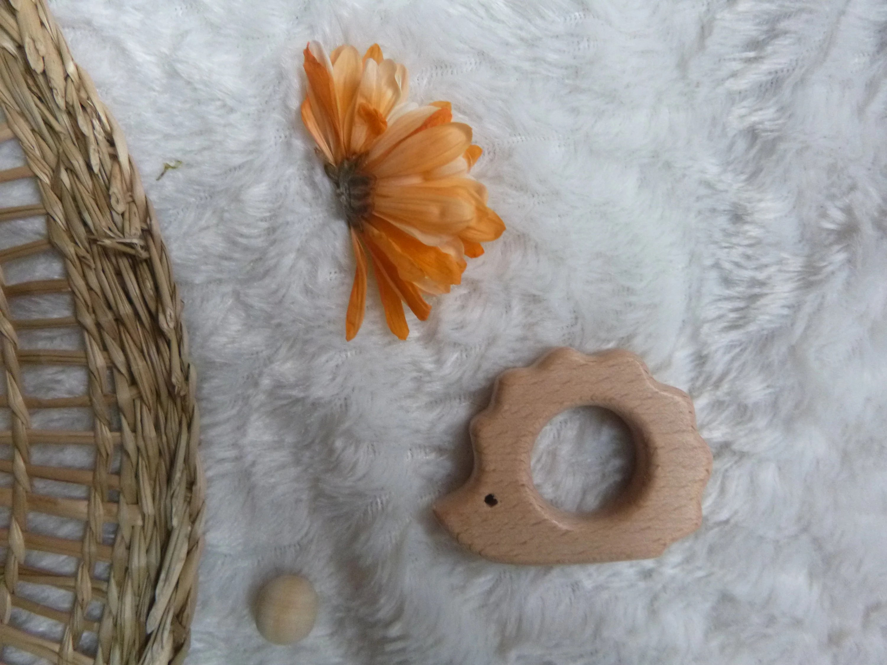 customize your teething ring ring to choose boho natural hérisson