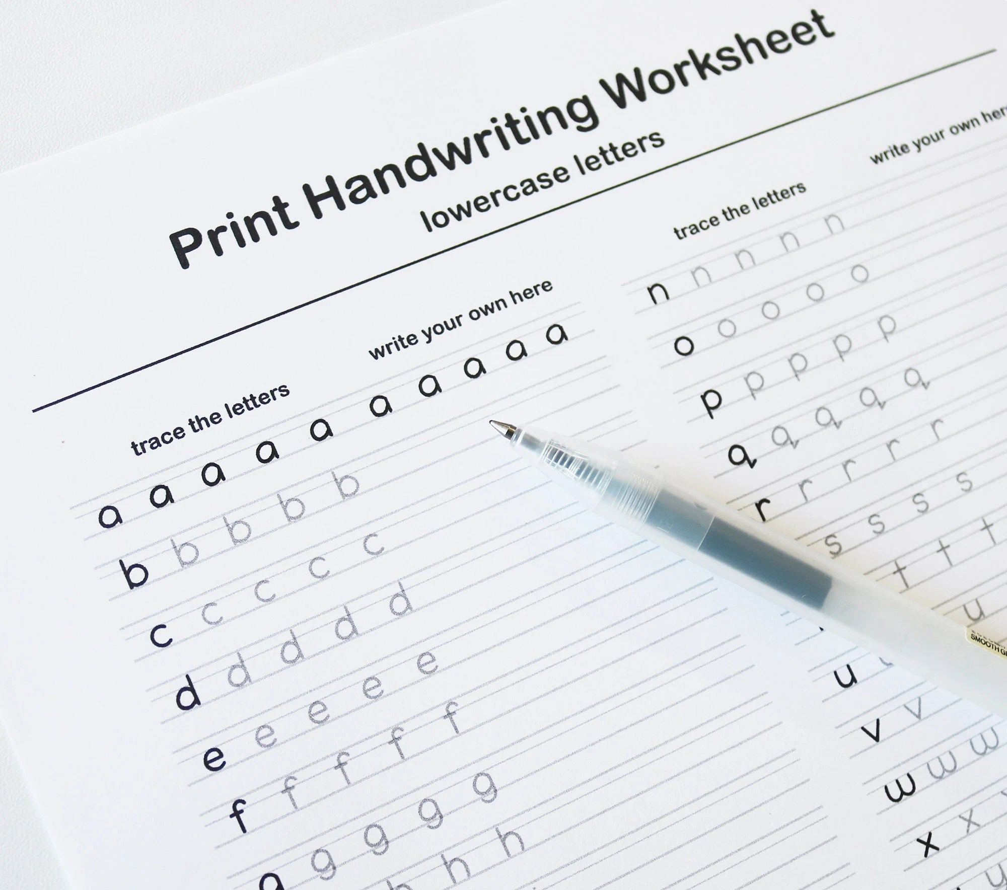 Printable Handwriting Worksheet Lowercase And Uppercase