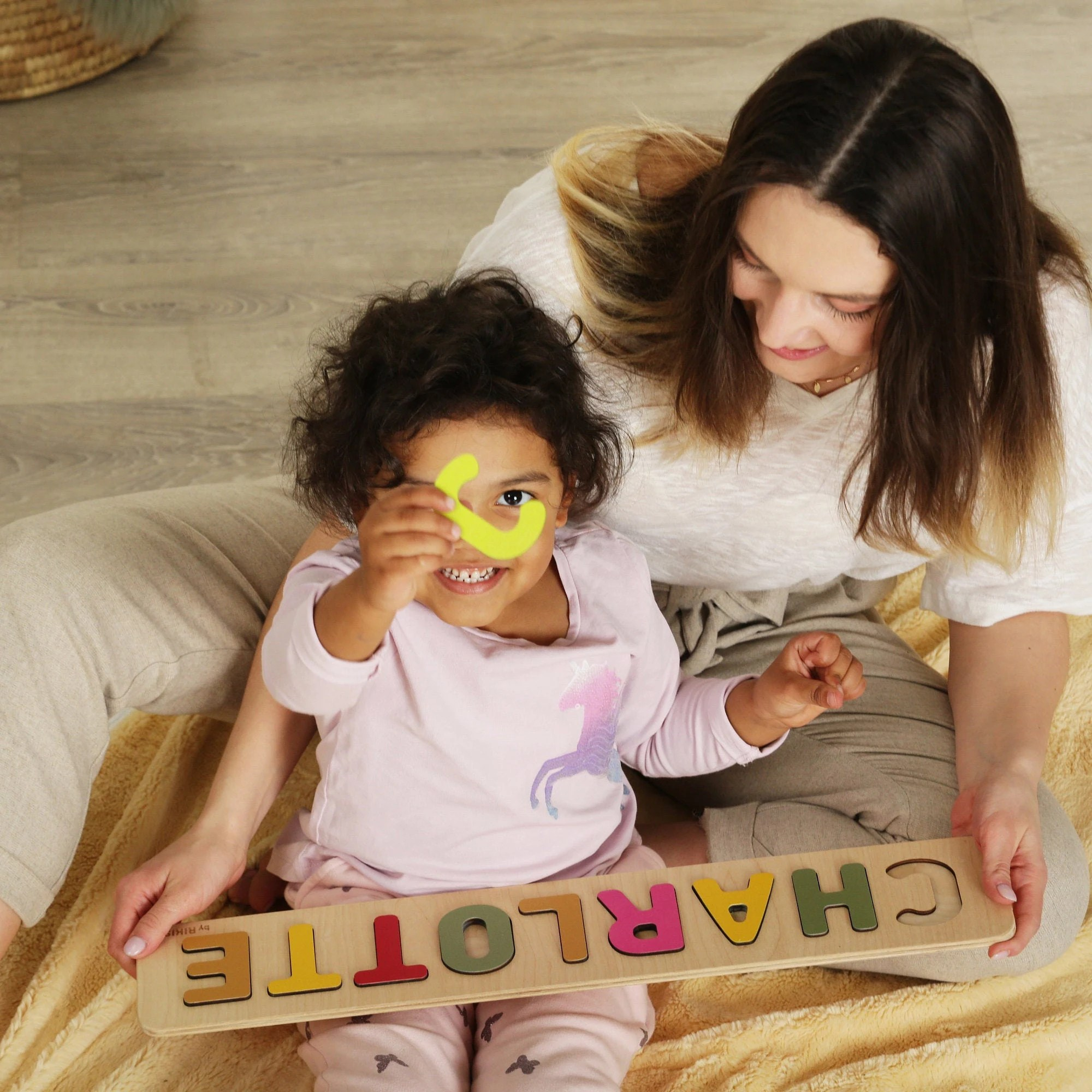 Name Puzzle  Toys Name Puzzle  Baby Girl  First Birthday image 1