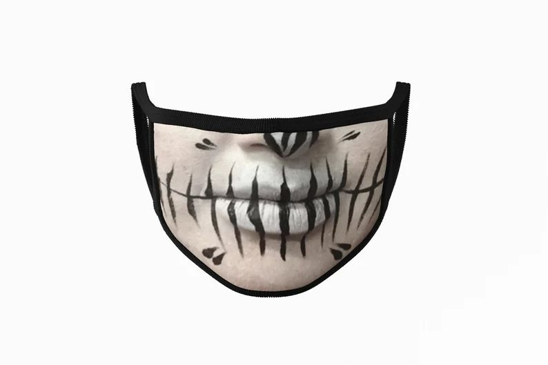 Makeup Halloween Face Mask Funny Mask Face Cover Washable Face image 0