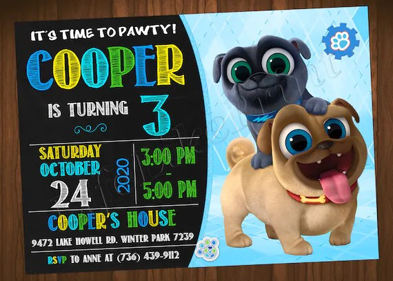 puppy dog pals invitation puppy dog pals birthday invitation puppy dog pals party puppy dog invitation puppy dog birthday puppy dog party