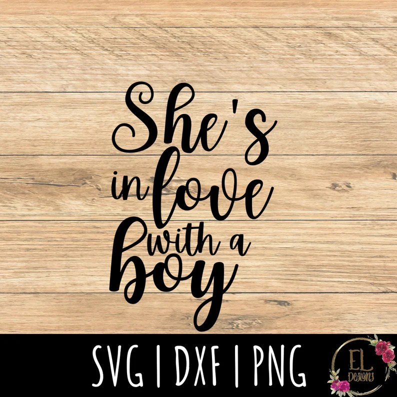 Download Song Lyrics SVG She's In Love with a Boy Svg Trisha   Etsy