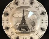 Statue Of Liberty  and Eiffel Tower Plates