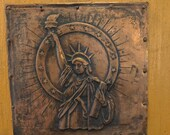 Embossed Copper plate - Statue of Liberty