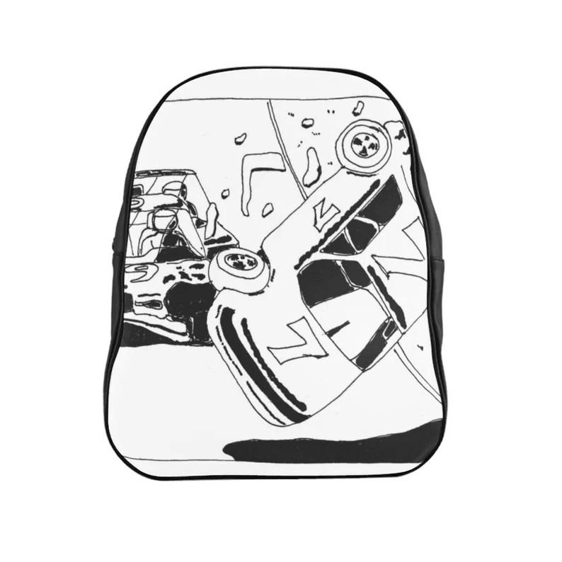 Urban Art PU Leather Backpack 3 sizes 17  Retro custom gift image 0