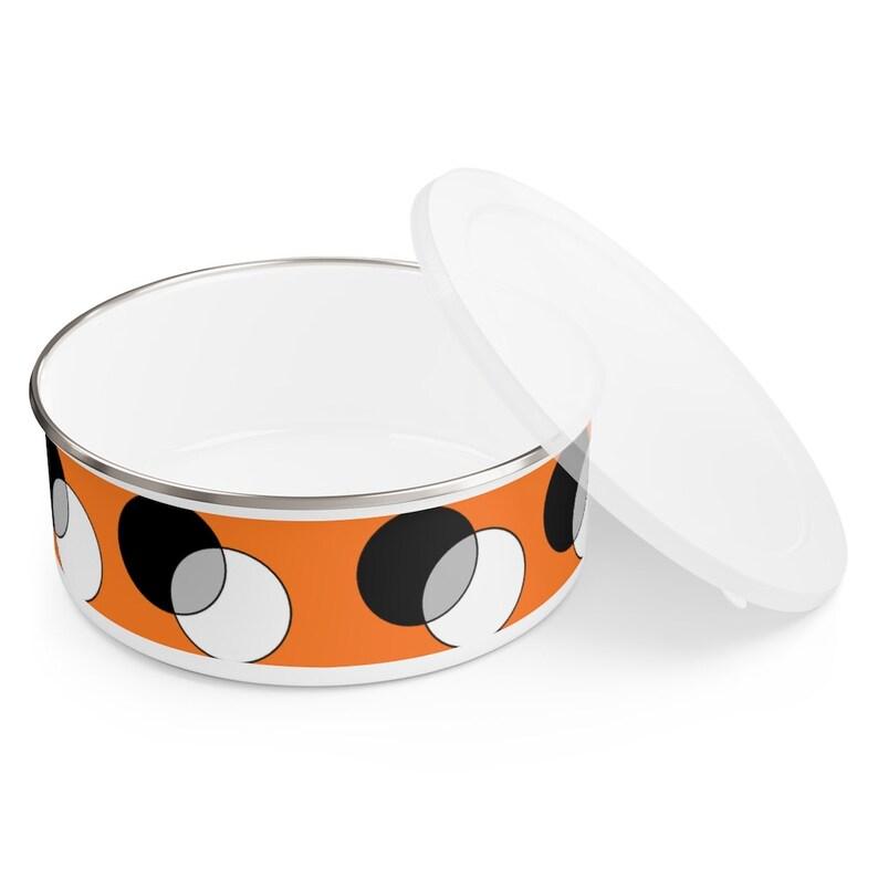 Cool Art Enamel Bowl 3 sizes 11  Retro custom gift image 0