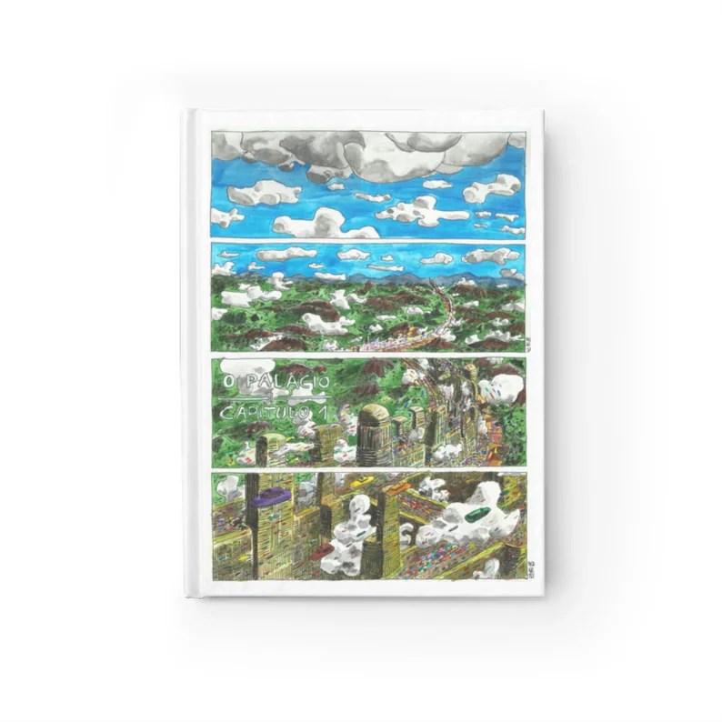 Blank Journal With Urban Art Cover 55  Retro custom gift image 0