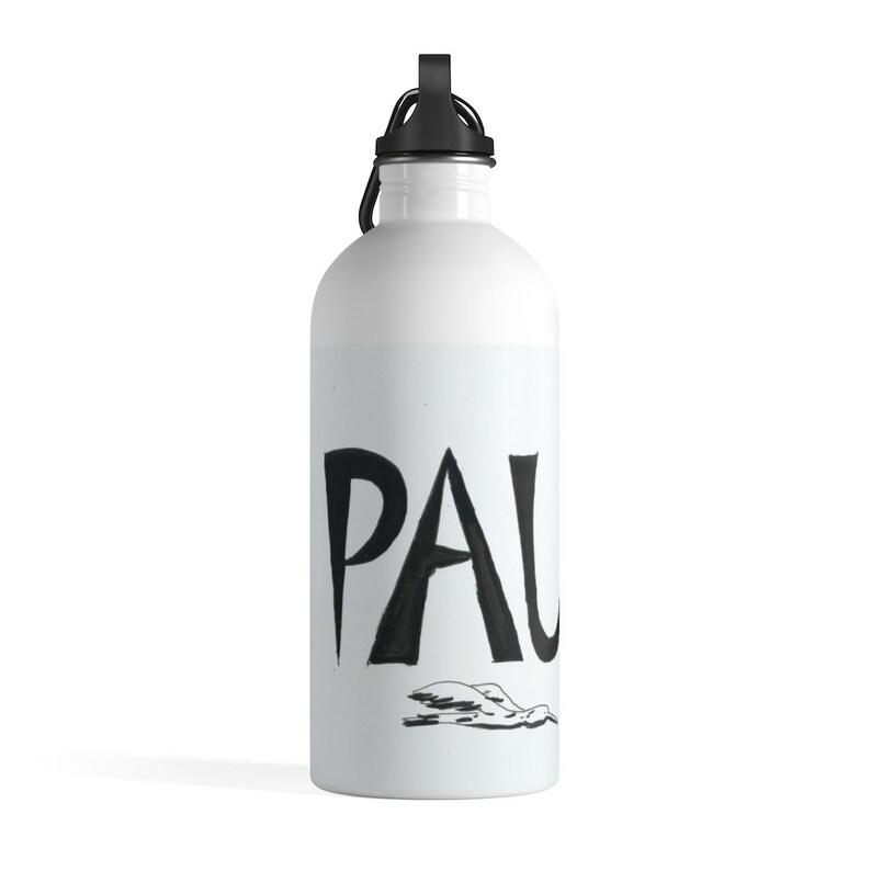 Personalized Cool Art Water Bottle  Retro custom gift image 0