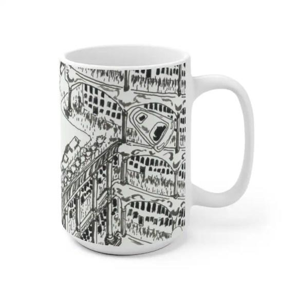 Urban Art Mug 2 sizes 24  Retro custom gift unique mugs image 0