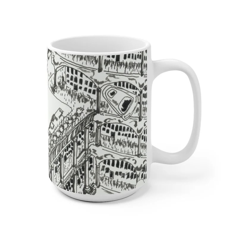 Cool Art Mug 2 sizes 24  Retro custom gift unique mugs with image 0