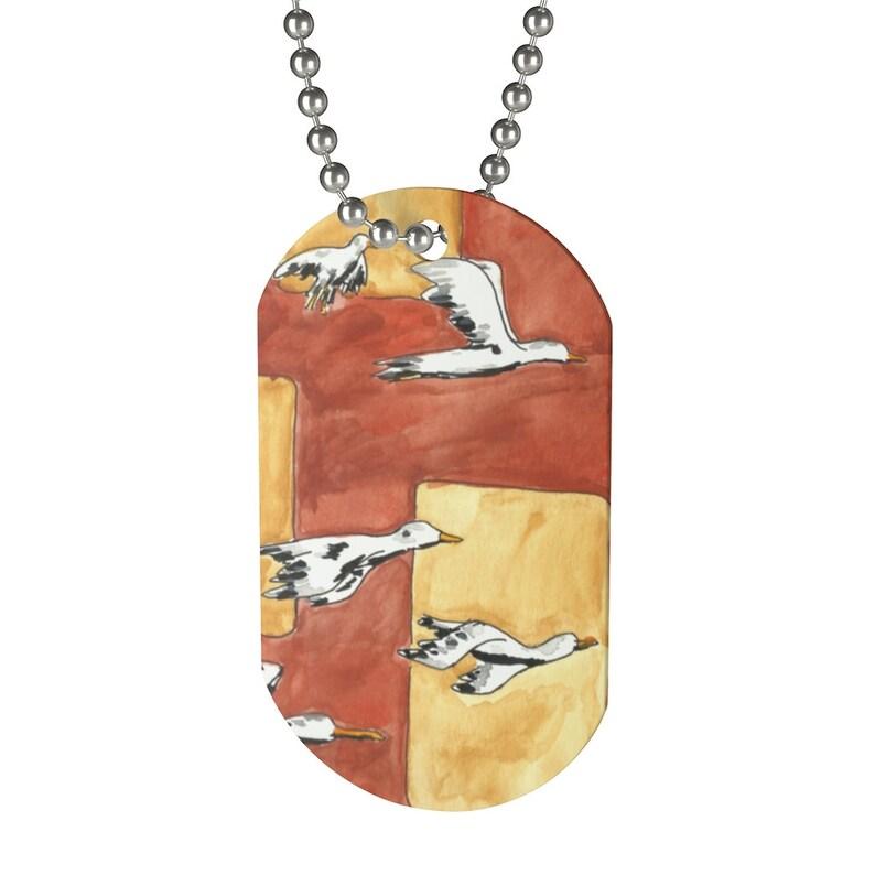 Cool Art Dog Tag 3  Retro custom gift pop art line art image 0