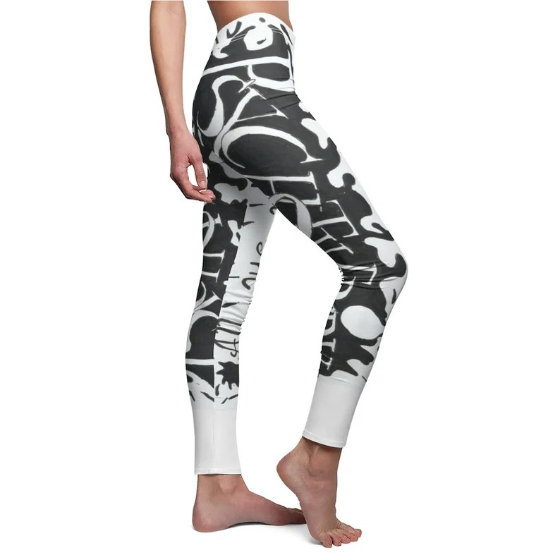 Cool Art Leggings 3  Retro custom gift aesthetic line art image 0