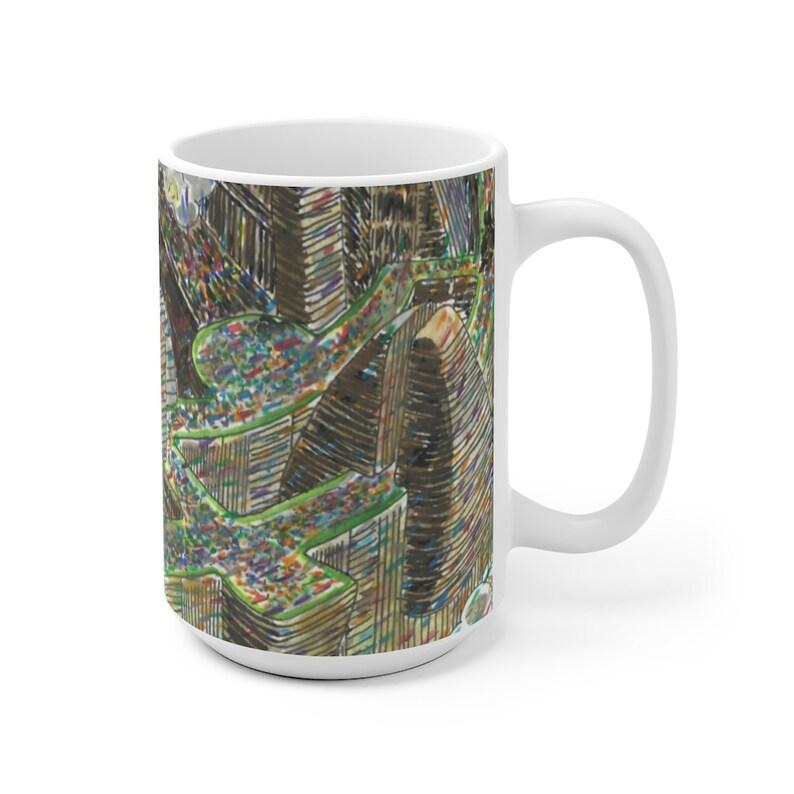 Urban Art Mug 2 sizes 19  Retro custom gift unique mugs image 0